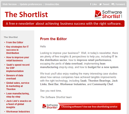 Subscribe To Our Enewsletter Software Shortlist