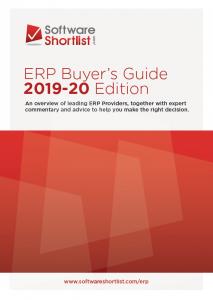 2019-20 ERP Buyer's Guide